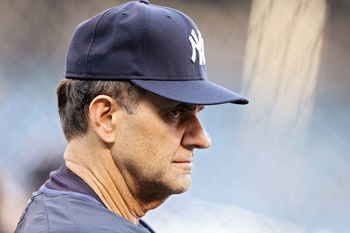 NEW YORK - OCTOBER 07:  Manager Joe Torre of the New York Yankees looks on during batting practice before Game Three of the American League Division Series against the Cleveland Indians at Yankee Stadium on October 7, 2007 in the Bronx borough of New York