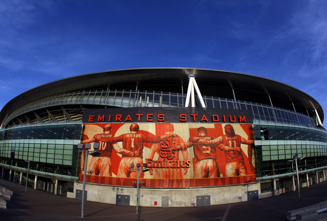 LONDON, UNITED KINGDOM - FEBRUARY 24:  A general view of the Emirates Stadium, home of Arsenal Football Club on February 24, 2011 in London, England.  (Photo by Julian Finney/Getty Images)