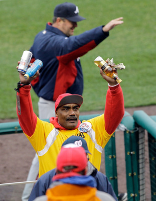 WASHINGTON, DC - MARCH 31:  A vendor sells beer during the Atlanta Braves and Washington Nationals baseball game on opening day at Nationals Park on March 31, 2011 in Washington, DC.  (Photo by Rob Carr/Getty Images)