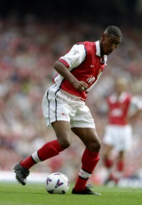 29 Aug 1998:  Nicolas Anelka of Arsenal in action during the FA Carling Premiership game against Charlton Athletic at Highbury, London, England.The game ended 0-0. \ Mandatory Credit: Ben Radford /Allsport