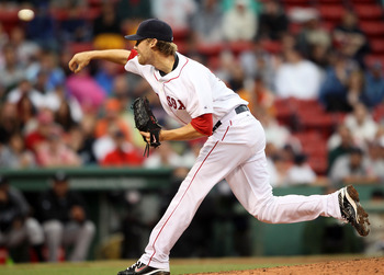 BOSTON - AUGUST 22:  Daniel Bard #51 of the Boston Red Sox delivers a pitch in the seventh inning against the Toronto Blue Jays on August 22, 2010 at Fenway Park in Boston, Massachusetts. The Red Sox defeated the Blue Jay 5-0.  (Photo by Elsa/Getty Images
