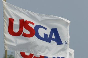 OAKMONT, PA - JULY 09:  USGA flags are seen during the second round of the 2010 U.S. Women's Open at Oakmont Country Club  on July 9, 2010 in Oakmont, Pennsylvania.  (Photo by Scott Halleran/Getty Images)