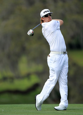 ORLANDO, FL - MARCH 26:  Hunter Mahan plays hie tee shot at the 16th hole during the third round of the 2011 Arnold Palmer Invitational presented by Mastercard at the Bay Hill Lodge and Country Club on March 26, 2011 in Orlando, Florida.  (Photo by David
