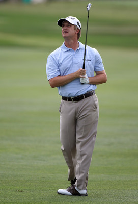 ORLANDO, FL - MARCH 27:  David Toms plays a shot on the 10th hole during the final round of the Arnold Palmer Invitational presented by MasterCard at the Bay Hill Club and Lodge on March 27, 2011 in Orlando, Florida.  (Photo by Sam Greenwood/Getty Images)