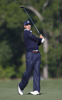 HUMBLE, TX - MARCH 31: Matt Kuchar hits a shot from the fairway during the first round of the Shell Houston Open at Redstone Golf Club on March 31, 2011 in Humble, Texas.  (Photo by Michael Cohen/Getty Images)