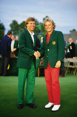 No one would have remembered Bernhard Langers' All Red outfit had Curtis Strange not folded on Sunday's back nine.