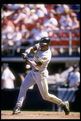 22 Aug 1993:  Left fielder Al Martin of the Pittsburgh Pirates swings at the ball during a game against the San Diego Padres at Jack Murphy Stadium in San Diego, California. Mandatory Credit: Stephen Dunn  /Allsport