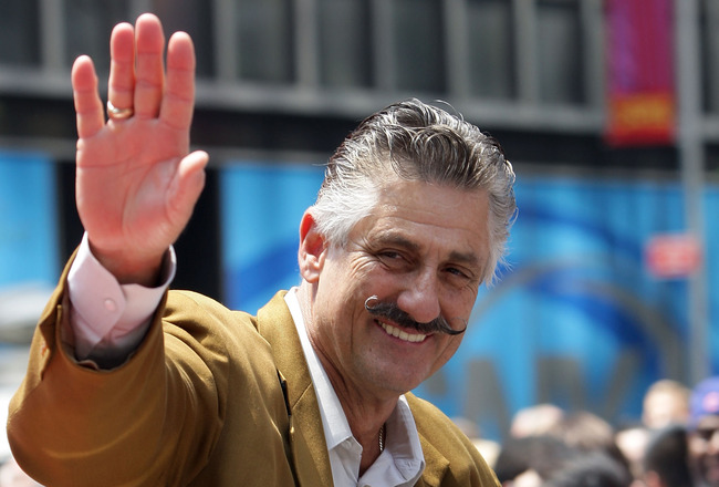 NEW YORK - JULY 15: Rollie Fingers during the MLB All-Star Game Red Carpet Parade on July 15, 2008 in New York City.  (Photo by Mike Stobe/Getty Images)
