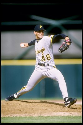 13 May 1995:  Pitcher Gary Wilson of the Pittsburgh Pirates throws a pitch during a game against the San Francisco Giants at Candlestick Park in San Francisco, California.  Mandatory Credit: Otto Greule  /Allsport
