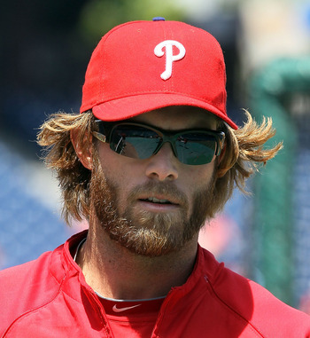 PHILADELPHIA - MAY 01:  Jayson Werth #28 of the Philadelphia Phillies looks on during batting practice before playing against the New York Mets at Citizens Bank Park on May 1, 2010 in Philadelphia, Pennsylvania.  (Photo by Jim McIsaac/Getty Images)