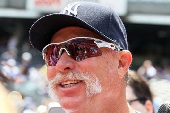NEW YORK - JULY 17:  Hall of Famer Rich Gossage looks on during the New York Yankees 64th Old-Timer's Day before the MLB game against the Tampa Bay Rays on July 17, 2010 at Yankee Stadium in the Bronx borough of New York City.  (Photo by Jim McIsaac/Getty