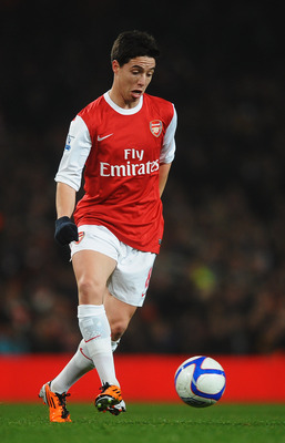 LONDON, UNITED KINGDOM - MARCH 02:  Samir Nasri of Arsenal runs with the ball during the FA Cup sponsored by E.ON 5th Round Replay match between between Arsenal and Leyton Orient at the Emirates Stadium on March 2, 2011 in London, England.  (Photo by Laur