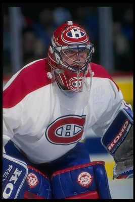 1993-1994:  Goaltender Patrick Roy of the Montreal Canadiens. Mandatory Credit: Robert Laberge  /Allsport