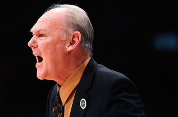 LOS ANGELES, CA - APRIL 03:  Coach George Karl of the Denver Nuggets reacts during the game against the Los Angeles Lakers at Staples Center on April 3, 2011 in Los Angeles, California. NOTE TO USER: User expressly acknowledges and agrees that, by downloa