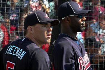 1st Baseman Freddie Freeman and Right Fielder Jason Heyward