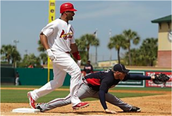 1st Basemen Freddie Freeman and Albert Pujols