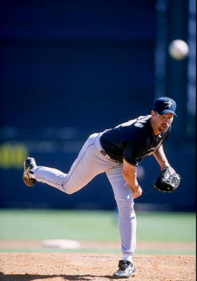2 Mar 1998: Roger Salkeld of the Houston Astros in action during a spring training game against the Atlanta Braves at the Disney''s Wide World of Sports Baseball Stadium in Kissimmee, Florida.