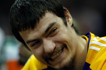 SAN ANTONIO - JANUARY 12:  Forward Adam Morrison #6 of the Los Angeles Lakers on January 12, 2010 at AT&T Center in San Antonio, Texas.  NOTE TO USER: User expressly acknowledges and agrees that, by downloading and/or using this Photograph, user is consen