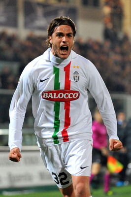 CESENA, ITALY - MARCH 12:  Alessandro Matri of Juventus celebrates scoring a goal during the Serie A match between AC Cesena and Juventus FC at Dino Manuzzi Stadium on March 12, 2011 in Cesena, Italy.  (Photo by Roberto Serra/Getty Images)
