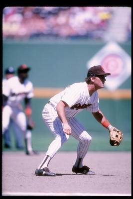 Third baseman Graig Nettles of the San Diego Padres stands in position during a game at Jack Murphy Stadium in San Diego, California.