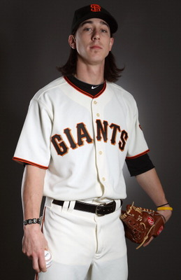 SCOTTSDALE, AZ - FEBRUARY 23:  Tim Lincecum #55 of the San Francisco Giants poses for a portrait during media photo day at Scottsdale Stadium on February 23, 2011 in Scottsdale, Arizona.  (Photo by Ezra Shaw/Getty Images)