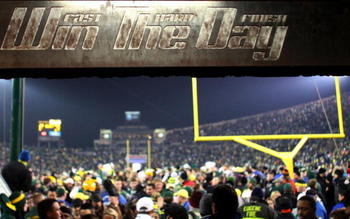 EUGENE,OR - DECEMBER 03:  A sign posted in the tunnel is seen after the Oregon Ducks defeated the Oregon State Beavers 33-37 in the game at Autzen Stadium on December 3, 2009 in Eugene, Oregon. (Photo by Tom Hauck/Getty Images)