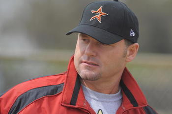 KISSIMMEE, FL - FEBRUARY 27: Roger Clemens at Houston Astros Spring Training at Osceola County Stadium on February 27, 2008 in Kissimmee, Florida. The U.S. House Oversight and Government Reform Committee has asked the Justice Department to investigate whe