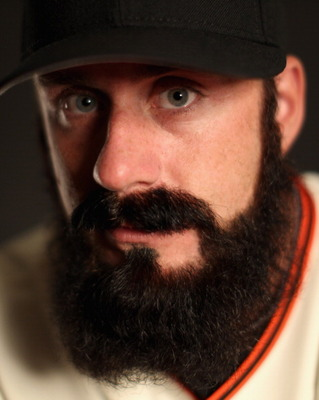 SCOTTSDALE, AZ - FEBRUARY 23:  Brian Wilson #38 of the San Francisco Giants poses for a portrait during media photo day at Scottsdale Stadium on February 23, 2011 in Scottsdale, Arizona.  (Photo by Ezra Shaw/Getty Images)