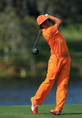 ORLANDO, FL - MARCH 27:  Rickie Fowler of the USA plays his tee shot on the 16th hole during the final round of the 2011 Arnold Palmer Invitational presented by Mastercard at the Bay Hill Lodge and Country Club on March 27, 2011 in Orlando, Florida.  (Pho