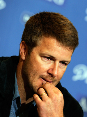 LOS ANGELES, CA - JANUARY 22:  Jeff Kent #12 of the Los Angeles Dodgers and the major league record-holder for home runs by a second baseman announces his retirement after 17seasons in Major League Baseball at a press conference on January 22, 2009 at Dod