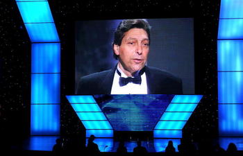 LOS ANGELES, CA - JULY 14:  A view of Jimmy Valvano on screen during the 2010 ESPY Awards at Nokia Theatre L.A. Live on July 14, 2010 in Los Angeles, California.  (Photo by Kevin Winter/Getty Images)