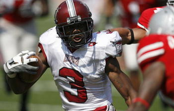 COLUMBUS, OH - SEPTEMBER 20: Jerrel Jernigan #3 of the Troy Trojans gets loose for a second quarter touchdown against the Ohio State Buckeyes on September 20, 2008 at Ohio Stadium in Columbus, Ohio.  (Photo by Gregory Shamus/Getty Images)