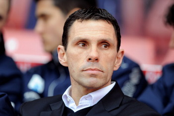 STOKE ON TRENT, ENGLAND - FEBRUARY 19:  Manager of Brighton and Hove Albion Gus Poyet looks on during the FA Cup sponsored by E.ON 5th Round match between Stoke City and Brighton & Hove Albion at Britannia Stadium on February 19, 2011 in Stoke on Trent, E