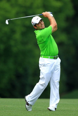 AUGUSTA, GA - APRIL 08:  Francesco Molinari of Italy hits his second shot on the fifth hole during the second round of the 2011 Masters Tournament at Augusta National Golf Club on April 8, 2011 in Augusta, Georgia.  (Photo by David Cannon/Getty Images)