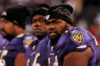 The Ravens need help on the line, and need to figure out where Oher is best.