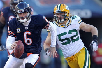Jay Cutler About To Crushed By Clay Matthews