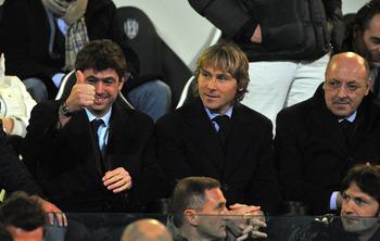 Andrea Agnelli; Pavel Nedved; Giuseppe Marotta