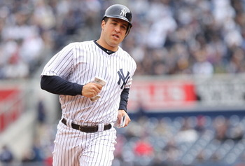 NEW YORK, NY - APRIL 07: Mark Teixeira #25  of the New York Yankees against the Minnesota Twins at Yankee Stadium on April 7, 2011 in the Bronx borough of New York City.  (Photo by Nick Laham/Getty Images)