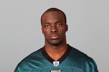 PHILADELPHIA, PA - APRIL 29: In this 2010 photo provided by the NFL, Ricky Sapp of the Philadelphia Eagles poses for an NFL headshot on Thursday, April 29, 2010 in Philadelphia, Pennsylvania. (Photo by NFL via Getty Images)