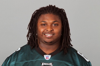PHILADELPHIA, PA - APRIL 29: In this 2010 photo provided by the NFL, Jeff Owens of the Philadelphia Eagles poses for an NFL headshot on Thursday, April 29, 2010 in Philadelphia, Pennsylvania. (Photo by NFL via Getty Images)