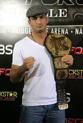HOLLYWOOD - MARCH 17:  Strikeforce Light Heavyweight Champion Gegard 'The Dreamcatcher' Mousasi attends the CBS' Strikeforce MMA Fighters Open Media Workout on March 17, 2010 in Hollywood, California.  (Photo by Valerie Macon/Getty Images)