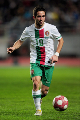 COIMBRA, PORTUGAL - MARCH 03:  Joao Moutinho of Portugal in action during the International Friendly match between Portugal and Republic of China at the City of Coimbra Stadium on March 3, 2010 in Coimbra, Portugal.  (Photo by Mike Hewitt/Getty Images)
