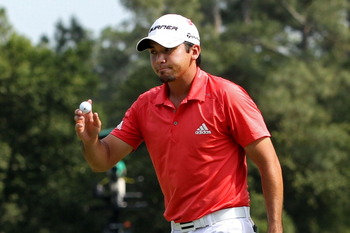 AUGUSTA, GA - APRIL 10:  Jason Day of Australia waves to the gallery on the eighth hole during the final round of the 2011 Masters Tournament at Augusta National Golf Club on April 10, 2011 in Augusta, Georgia.  (Photo by Andrew Redington/Getty Images)