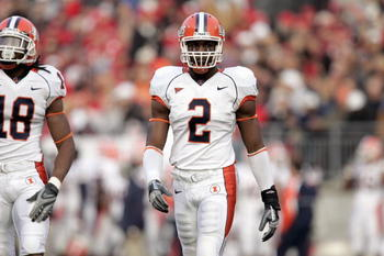 COLUMBUS - NOVEMBER 10: Martez Wilson #2 of the Illinois Fighting Illini walks on the field during the game against the Ohio State Buckeyes at Ohio Stadium November 10, 2007 in Columbus, Ohio.  Illinois defeated Ohio State 28-21.  (Photo by David Maxwell/