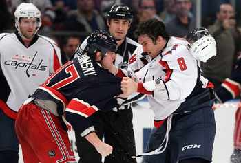 New York's Brandon Dubinsky and Caps Alex Ovechkin discuss their differences.