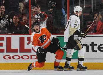 Daniel Briere's stature may be small, but he's always ready for playoff hockey.