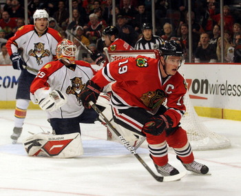 Jonathan Toews plays better the bigger the stage.