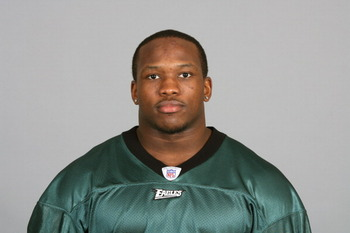 PHILADELPHIA, PA - JULY 6: In this 2010 photo provided by the NFL, Joe Mays of the Philadelphia Eagles poses for an NFL headshot on Tuesday, July 6, 2010 in Philadelphia, Pennsylvania. (Photo by NFL via Getty Images)