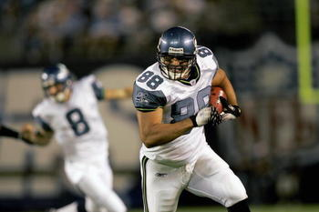 The Seahawks tight end that pulled his weight in the early 2000s, a consistent contributor.