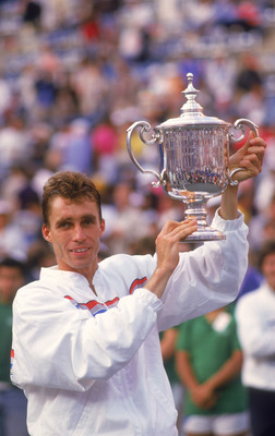 Czech tennis player Ivan Lendl wins the US Open, 1986. (Photo by Trevor Jones/Getty Images)